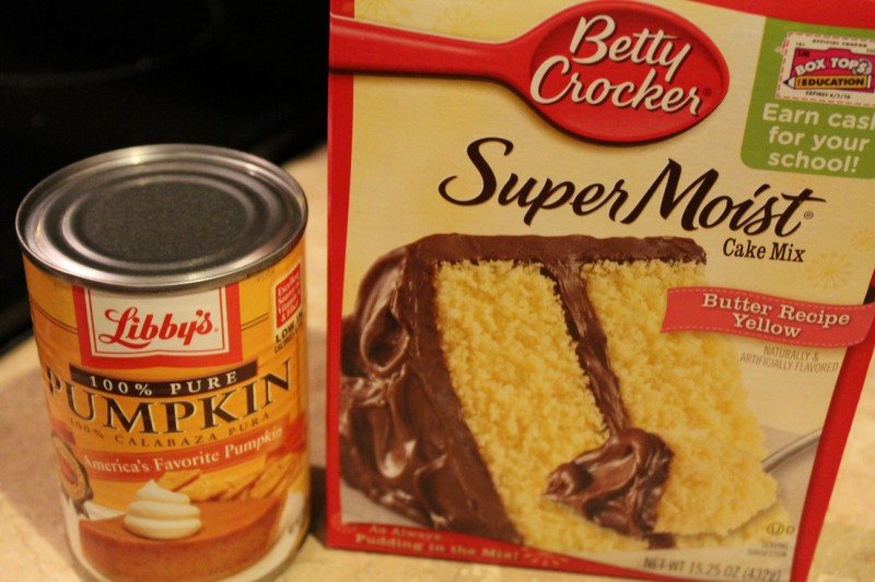 Pumpkin And Yellow Cake Mix