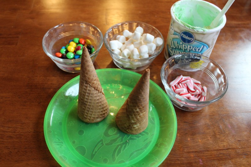 Christmas Tree Craft Ice Cream Cone : Ice cream cone christmas trees for toddlers mama s nook